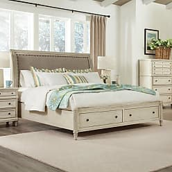 Riverside Furniture Huntleigh Upholstered Storage Sleigh Bed, Size: Queen - RVS3515-1
