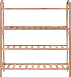 Costway 4 Tier Bamboo Shoe Shelf Storage Organizer