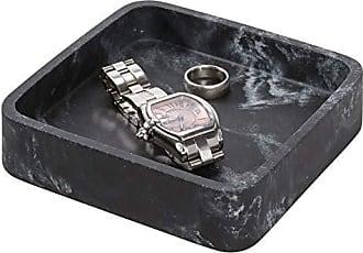 Boutique Box Bathroom Holder for Vanity Countertops InterDesign Cade Facial Tissue Cover Matte Black Dorm Office Desk