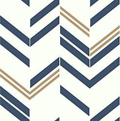 RoomMates Chevron Stripe Peel and Stick Wallpaper Blue - RMK9002WP