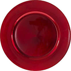 10 Strawberry Street 13Lacquer Round Charger Plate, Set of 6, Red