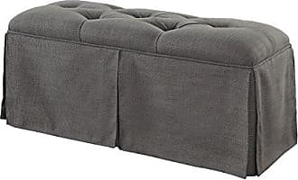 FURNITURE OF AMERICA HOMES: Inside + Out IDF-BN6176GY Draco Transitional Bench, Gray