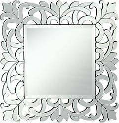 Elegant Furniture & Lighting Modern Square Wall Mirror - 32W x 32H in. - MR-4012