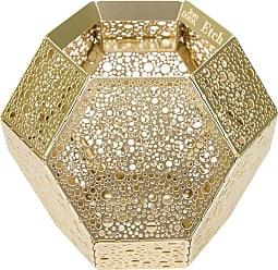 TOM DIXON Etch Tea Light Holder - Brass Dot
