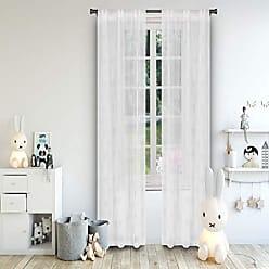 Duck River Textile Lala + Bash Clarice Metallic Pole Top Window Curtain 2 Panel Drape Set, 37 X 84, White & Gold