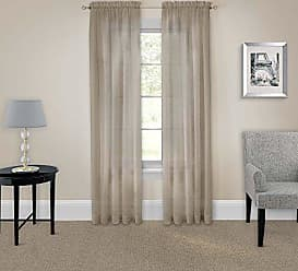 Ellery Homestyles Pairs To Go 16005118X084TAU Victoria Voile 118-Inch by 84-Inch Window Panel Pair, Taupe