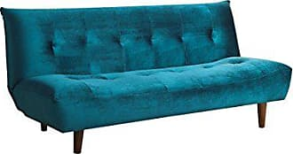 Coaster Sofa Bed with Tufted Back Teal