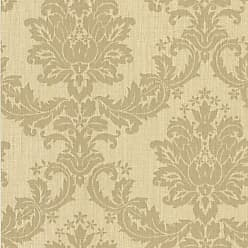 Brewster Home Fashions Everest Woven Damask Wallpaper Taupe - 2446-83535