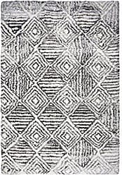 Rizzy Home Adana Collection Polypropylene Charcoal/Ivory Geometric Area Rug 710 x 106