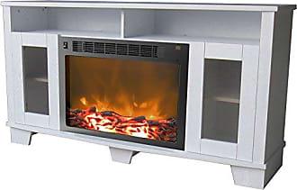 Cambridge Silversmiths Savona Fireplace Mantel with Electronic Fireplace Insert, White