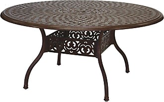 DARLEE Outdoor Darlee Series 60 Cast Aluminum 59 in. Round Dining Table, Patio Furniture - 201060-D-AB