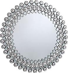 Elegant Furniture & Lighting Modern Round Wall Mirror - 39.4 diam. in. - MR-3060