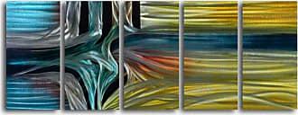 Omax Decor Intersection 5-Piece Handmade Metal Wall Art -60W x 24H in. - MC5048