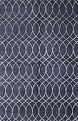 Bashian Greenwich HG300 Collection Hand Tufted Wool & Viscose Area Rug, 2.6 x 8, Navy