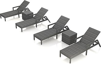 Harmonia Living District 6 Piece Outdoor Chaise Lounge Set Canvas Charcoal - HL-DIS-TS-6RCLS-CC