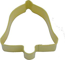 CybrTrayd R&M Bell Durable Cookie Cutter, 3.5-Inch, Yellow, Bulk Lot of 12