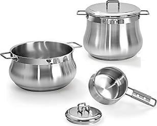 Barazzoni Piccinini Set da Cucina, Acciaio Inox 18//10 Set di 3 Argento