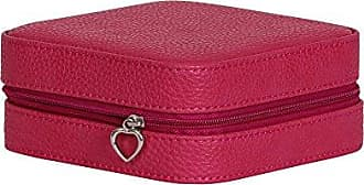 Mele & Co. Josette Faux Leather Travel Jewelry Case, Magenta