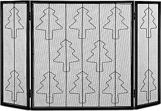 Costway 3 Panel Folding Steel Fireplace Screen