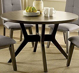 FURNITURE OF AMERICA CM3354GY-RT Abelone Gray Round Dining Tables