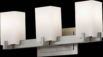 Feiss VS18403-BS Riva Vanity Strip in Brushed Steel finish with Cream Etch Glass