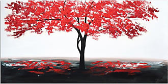 Omax Decor OMAX Decor Red Leaves Original Oil Painting On Canvas - M 3164