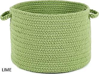 Rhody Rug Fun Braids Solid Lime 10 x 8 Basket