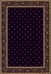 Milliken Carpet 4000040332 Innovations Collection Paisley Oval Area Rug, 310 x 54, Eggplant