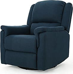 GDF Studio Christopher Knight Home 302056 Jemma Swivel Gliding Recliner Chair, Navy Blue