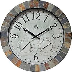 Infinity Instruments Inca Indoor/Outdoor Mosaic Wall Clock