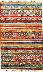 Nain Trading Arijana Shaal Rug 42x210 Brown/Pink (Afghanistan, Wool, Hand-Knotted)