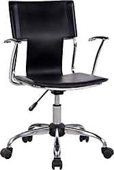 Pelegrin Cadeira Diretor Executiva em Couro Pvc Preta Pelegrin Pel-6011