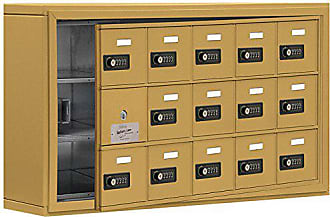 Salsbury Industries 19135-15GSC Cell Phone-Access Panel-3 Unit Surface Mounted-Resettable Combo Locks with 5-Inch Diameter Compartments, Gold