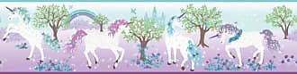 York Wallcoverings Young At Heart Magic Unicorn Wallpaper Border Purple/Multicolor - LK8285BD