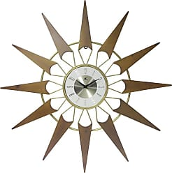Infinity Instruments Gold and Cherry 31 in.Wall Clock - 15508CH