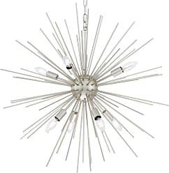 Elegant Lighting LD5040D30 Timber 8 Light 30 Champagne Sputnik