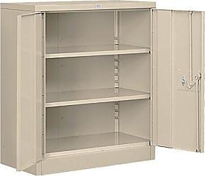 Salsbury Industries Counter Height Heavy Duty Storage Cabinet, Unassembled, Tan