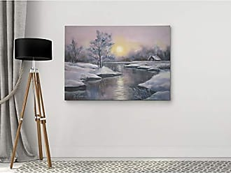 WEXFORD HOME Dmitry Andruz Winter Evening Gallery Wrapped Canvas Wall Art, 36x48, Red Dress 1