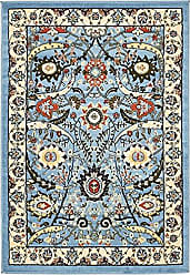 Unique Loom Espahan Collection Classic Traditional Blue Area Rug (4 x 6)