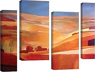 Brushstone Charlie Baird View 4 Piece Gallery Wrapped Canvas Staggered Set, 24X36