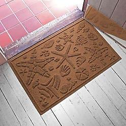 Bungalow Flooring AquaShield Beachcomber Doormat, 2 x 3, Dark Brown