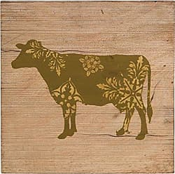 Heritage Lace Farmhouse 9x9 Cow Wood Plaque