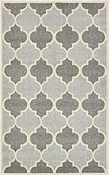 Unique Loom Trellis Collection Moroccan Lattice Light Gray Area Rug (3 x 5)