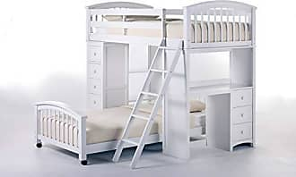 Hillsdale Furniture 7080NLLTB Hillsdale Kids and Teen Charlie Bunk Twin, White Student Loft with Lower Bed