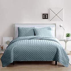 VCNY Home VCNY Home Nia Embossed 3 PC Quilt Set - Blue - Size: Twin Victoria Classics