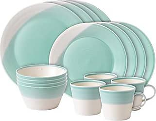 Royal Doulton 40029951 Aqua 1815 Collection 16 Piece Plate/Tray/Bowl Set
