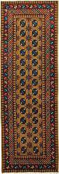 Nain Trading Afghan Akhche Baghlan Rug 82x28 Runner Dark Grey/Brown (Afghanistan, Wool, Hand-Knotted)