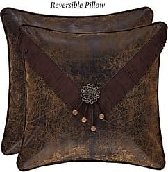 Five Queens Court Tacoma Southwest 18 Square Embellished Decorative Throw Pillow, Brown, 18x18