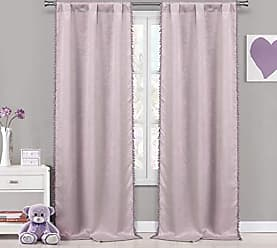 Duck River Textile Lala + Bash Tucker Pom Insulated Blackout Room Darkening Window Curtain Set of 2 Panels, 37 X 84 Inch, Pretty Pink, 2 Piece