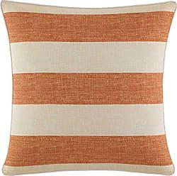 Revman International Tommy Bahama Palmiers Printed Stripe Throw Pillow, 18x18, Dark Orange